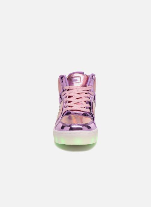 Baskets Skechers Energy Lights Shiny Brights Argent vue portées chaussures