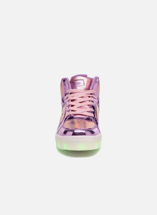 Trainers Skechers Energy Lights Shiny Brights Silver model view