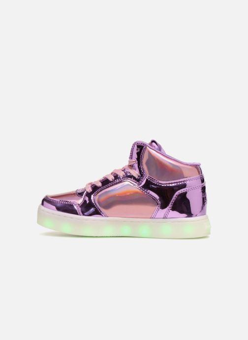 Baskets Skechers Energy Lights Shiny Brights Argent vue face