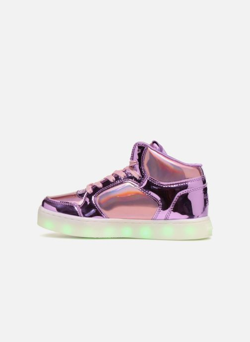 Trainers Skechers Energy Lights Shiny Brights Silver front view
