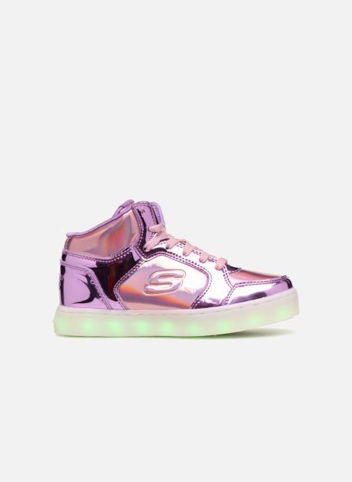 Deportivas Skechers Energy Lights Shiny Brights Plateado vistra trasera