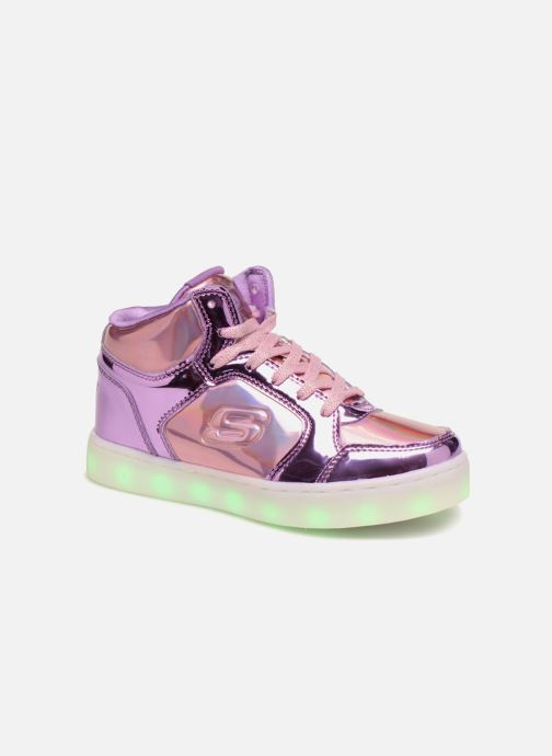 Trainers Skechers Energy Lights Shiny Brights Silver detailed view/ Pair view
