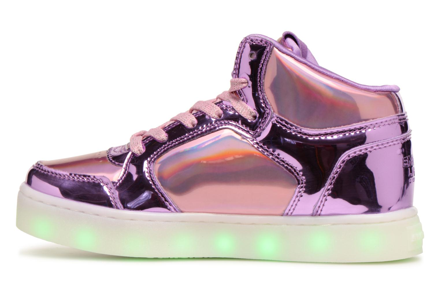 Baskets Skechers Energy Lights Shiny Brights Argent vue face