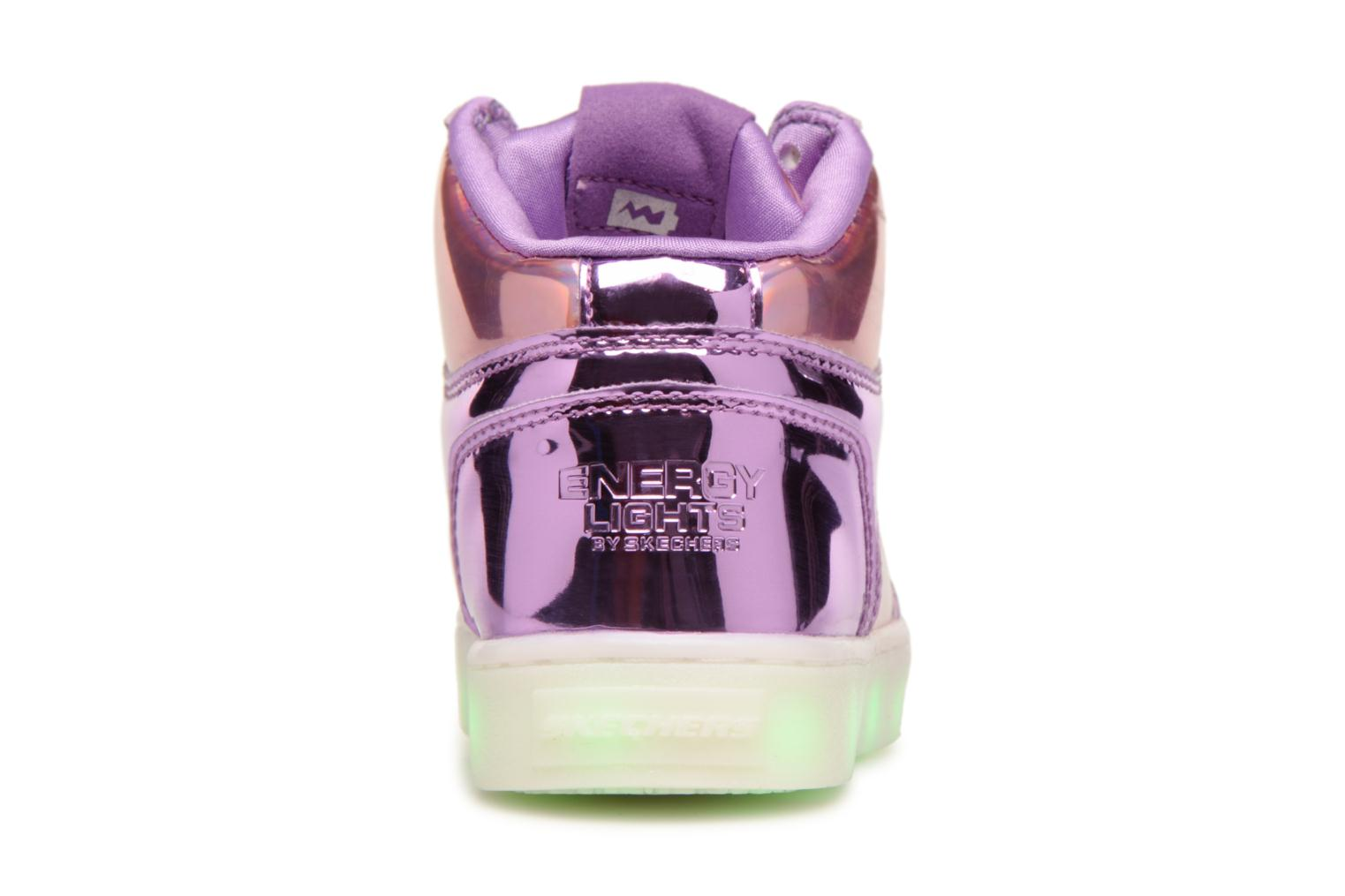 Baskets Skechers Energy Lights Shiny Brights Argent vue droite