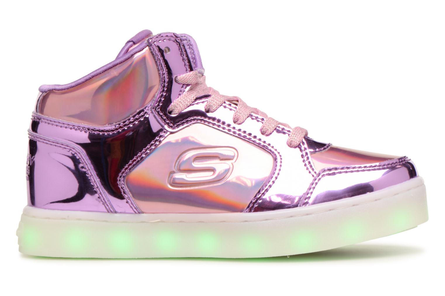Baskets Skechers Energy Lights Shiny Brights Argent vue derrière
