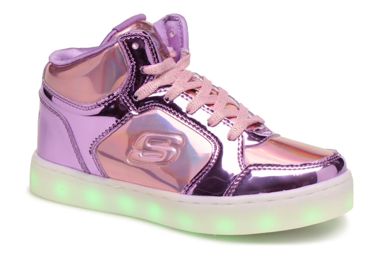 Baskets Skechers Energy Lights Shiny Brights Argent vue détail/paire