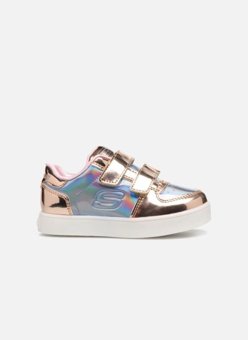 Trainers Skechers Energy Lights Lil' Metallic Silver back view