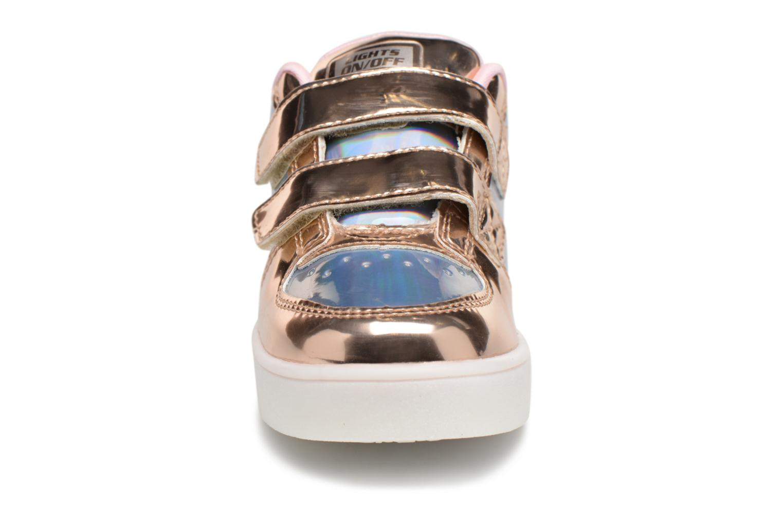 Baskets Skechers Energy Lights Lil' Metallic Argent vue portées chaussures