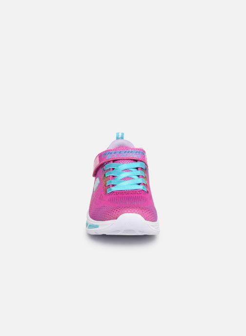 Baskets Skechers Litebeams Gleam N'Dream Rose vue portées chaussures