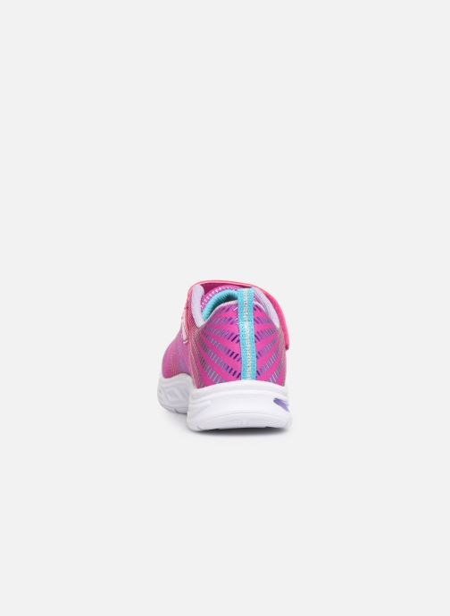 Trainers Skechers Litebeams Gleam N'Dream Pink view from the right