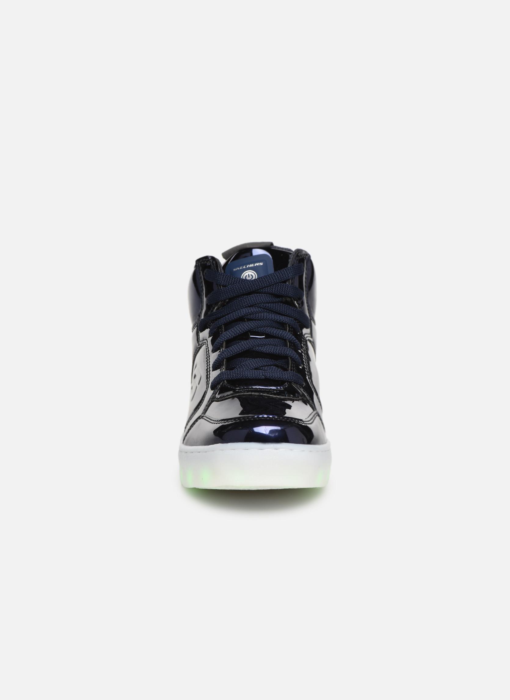 Baskets Skechers Energy Lights Eliptic Bleu vue portées chaussures