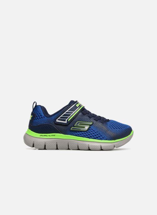 Sport shoes Skechers Flex Advantage 2.0 Geo Blast Blue back view