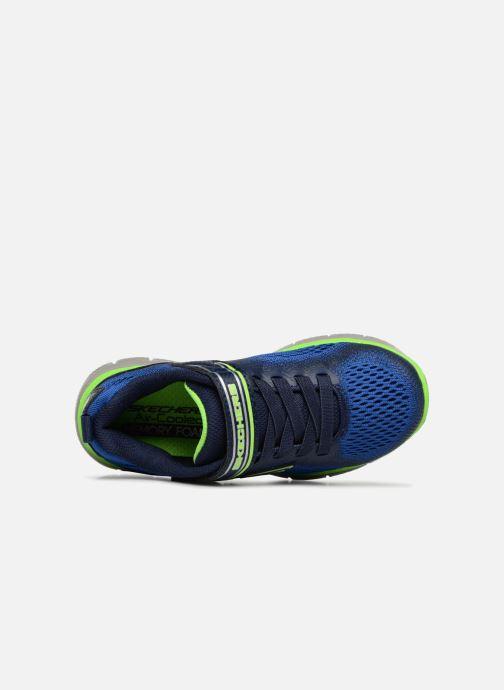 Sport shoes Skechers Flex Advantage 2.0 Geo Blast Blue view from the left
