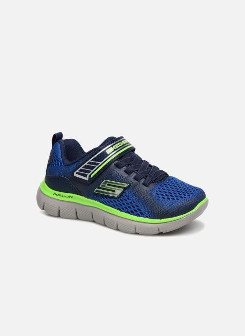 Sport shoes Skechers Flex Advantage 2.0 Geo Blast Blue detailed view/ Pair view