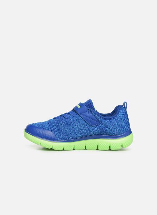 Chaussures de sport Skechers Flex Advantage 2.0 Geo Blast Bleu vue face