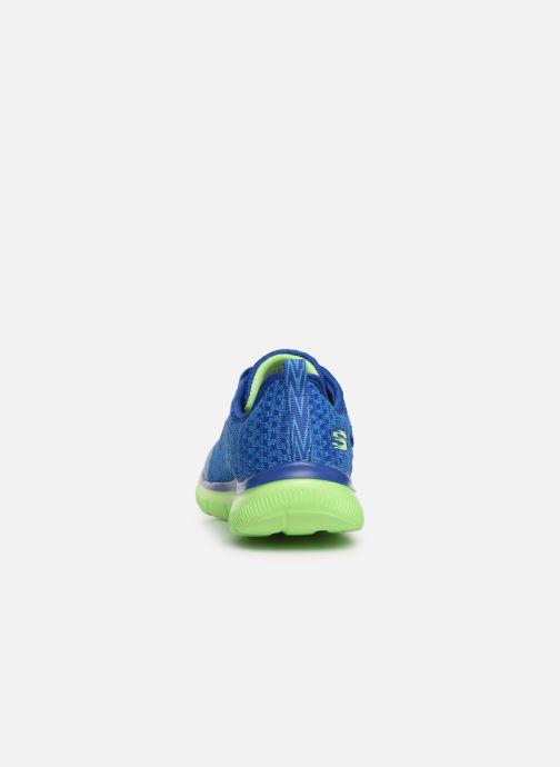 Chaussures de sport Skechers Flex Advantage 2.0 Geo Blast Bleu vue droite