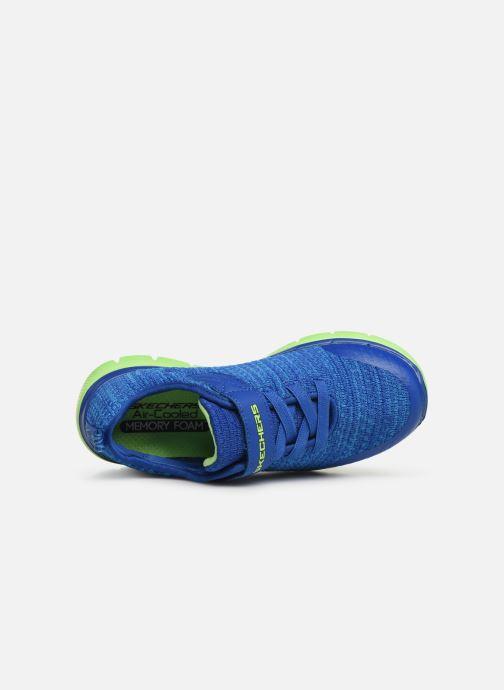 Chaussures de sport Skechers Flex Advantage 2.0 Geo Blast Bleu vue gauche