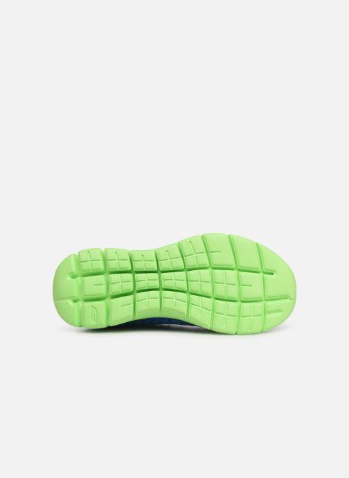 Chaussures de sport Skechers Flex Advantage 2.0 Geo Blast Bleu vue haut