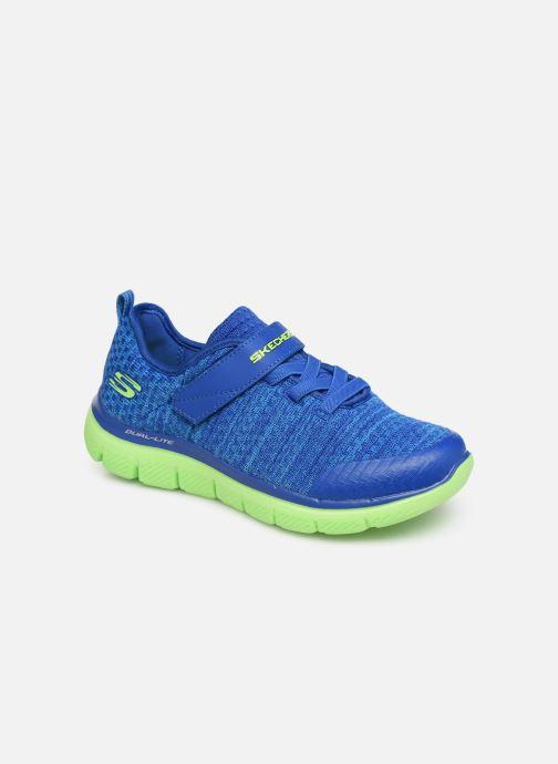 Chaussures de sport Skechers Flex Advantage 2.0 Geo Blast Bleu vue détail/paire