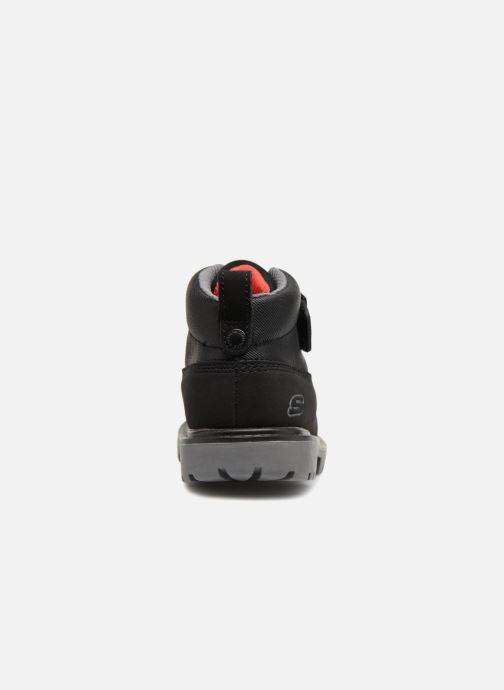 Boots en enkellaarsjes Skechers Mecca Bolders Zwart rechts