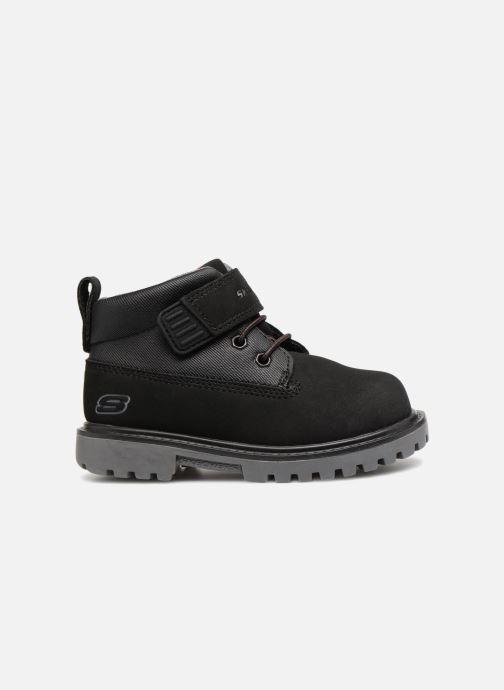 Boots en enkellaarsjes Skechers Mecca Bolders Zwart achterkant