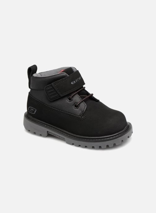 Ankle boots Skechers Mecca Bolders Black detailed view/ Pair view