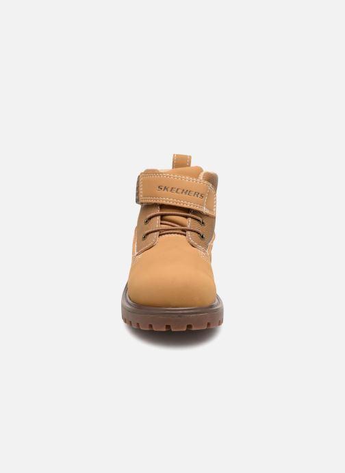 Bottines et boots Skechers Mecca Bolders Marron vue portées chaussures