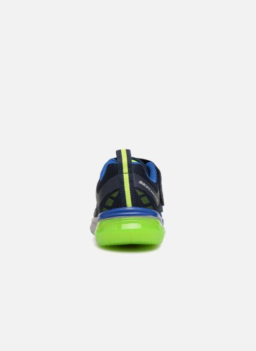 Scarpe sportive Skechers Thermoflux Nano-Grid Azzurro immagine destra