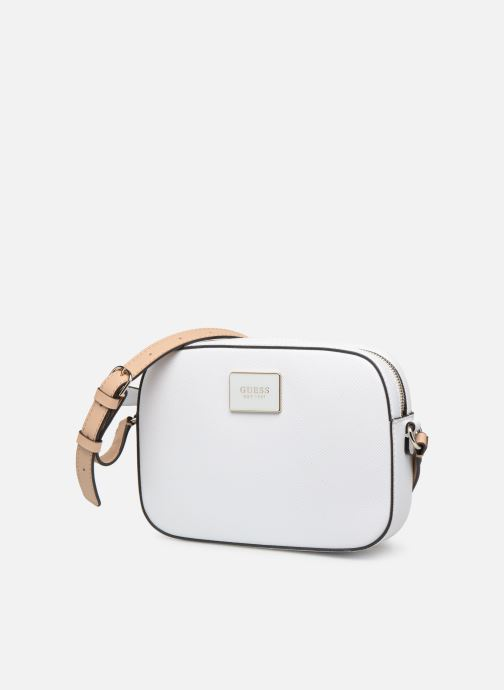 Handbags Guess KAMRYN CROSSBODY TOP ZIP White model view