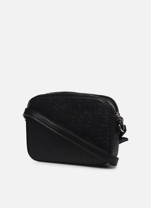 Handtaschen Guess KAMRYN CROSSBODY TOP ZIP schwarz ansicht von rechts