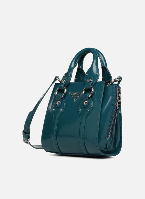 Handtaschen Guess REY LEATHER CROSSBODY TOP ZIP blau schuhe getragen