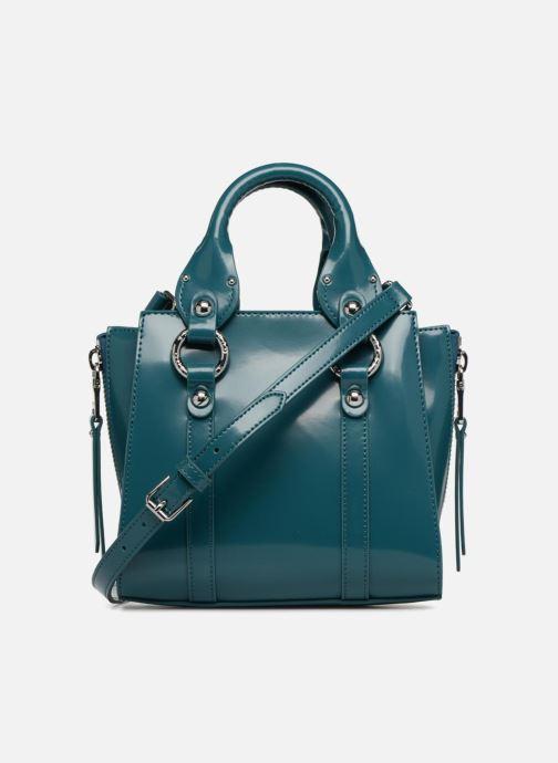Handtaschen Guess REY LEATHER CROSSBODY TOP ZIP blau ansicht von vorne