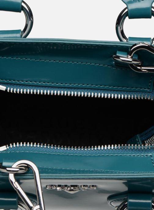 Handtaschen Guess REY LEATHER CROSSBODY TOP ZIP blau ansicht von links