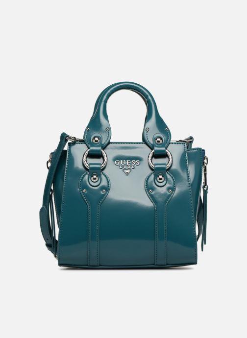 Handtaschen Guess REY LEATHER CROSSBODY TOP ZIP blau detaillierte ansicht/modell