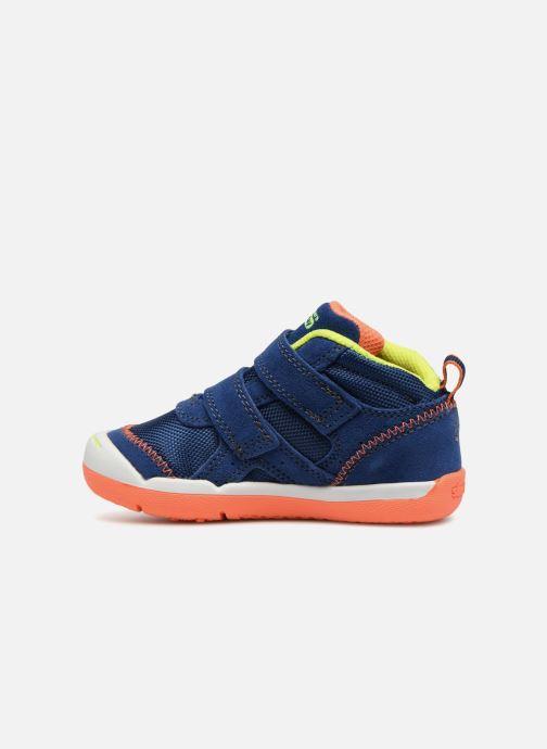 Baskets Skechers Flex Play Mid Dash Bleu vue face