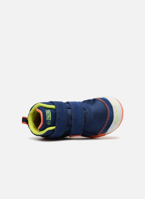 Baskets Skechers Flex Play Mid Dash Bleu vue gauche