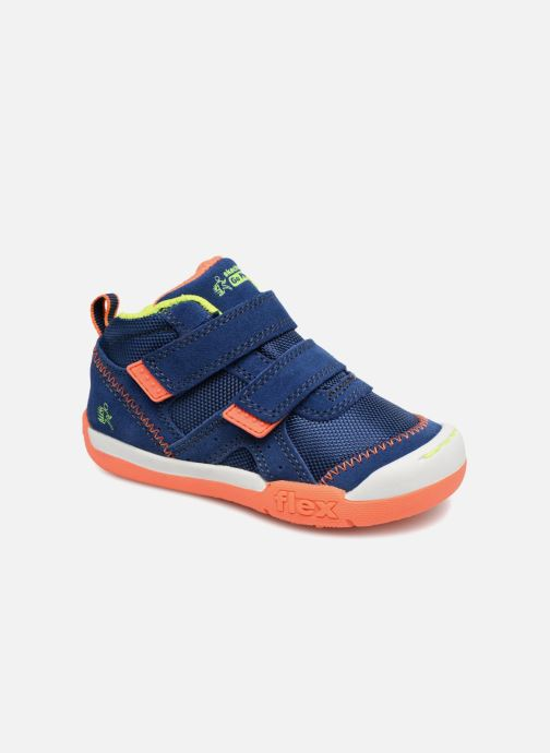 Baskets Skechers Flex Play Mid Dash Bleu vue détail/paire