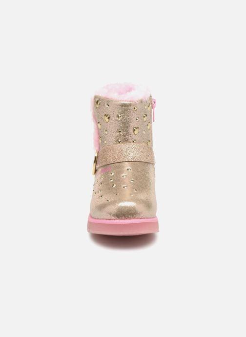 Stiefel Skechers Glitzy Glam gold/bronze schuhe getragen