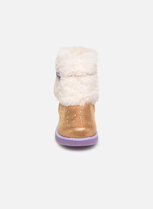 Stiefel Skechers Glitzy Glam braun schuhe getragen