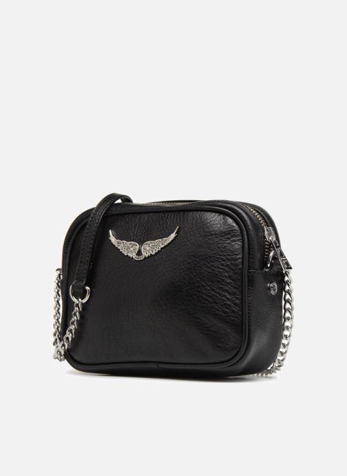 Sacs à main Zadig & Voltaire XS BOXY Noir vue portées chaussures