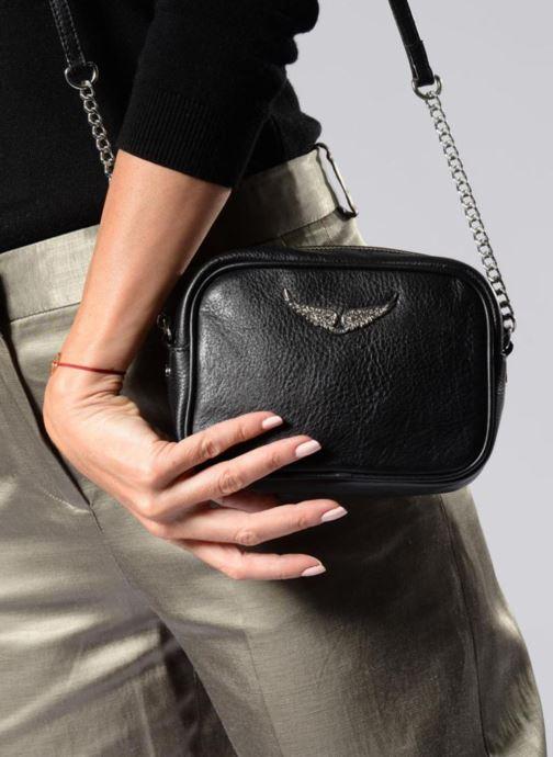 Sacs à main Zadig & Voltaire XS Boxy Noir vue bas / vue portée sac