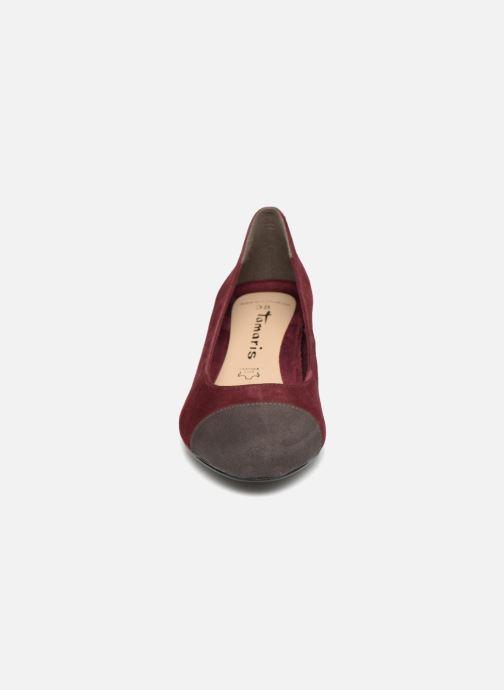 Escarpins Tamaris MERLA Bordeaux vue portées chaussures