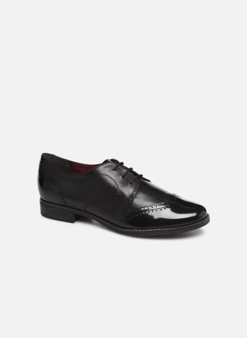Lace-up shoes Tamaris ATHENA Black detailed view/ Pair view