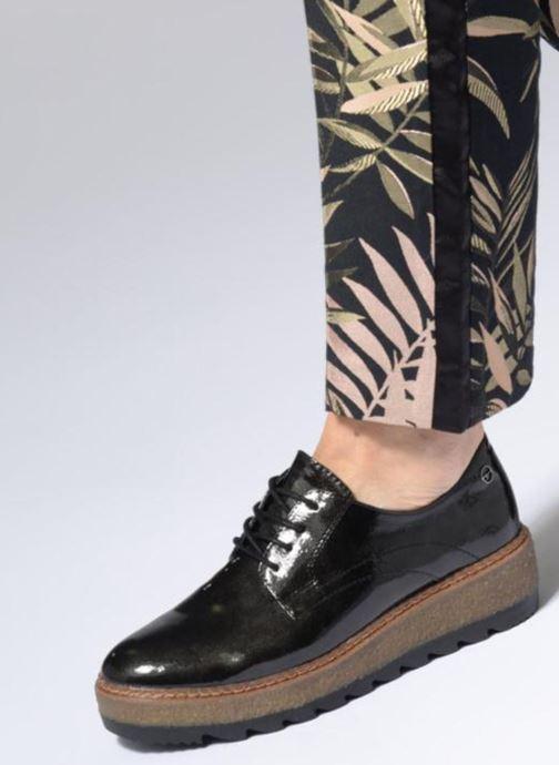 Chaussures à lacets Tamaris MANAUS Noir vue bas / vue portée sac