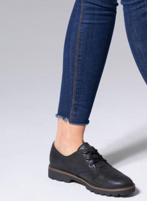Chaussures à lacets Tamaris MOCCA Bleu vue bas / vue portée sac