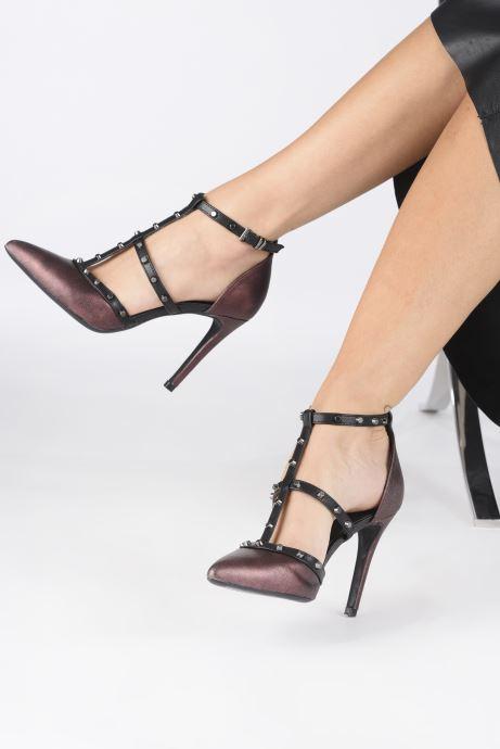 Sandales et nu-pieds Tamaris CLOU Bordeaux vue bas / vue portée sac