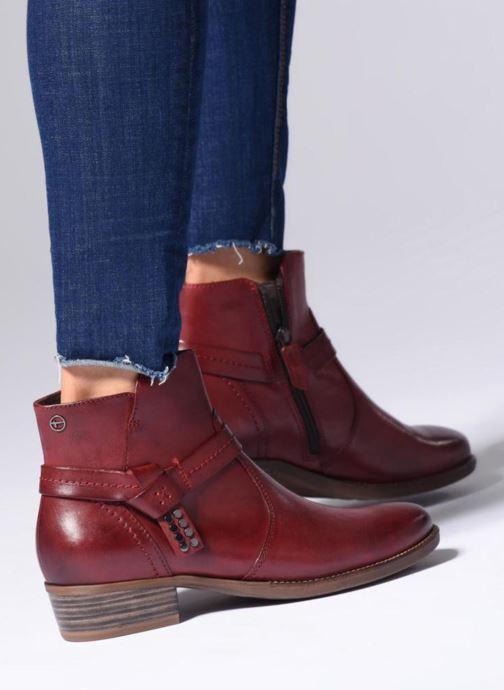 Bottines et boots Tamaris CARDI Bordeaux vue bas / vue portée sac