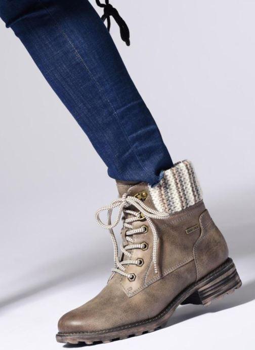 Bottines et boots Tamaris OZZY Gris vue bas / vue portée sac