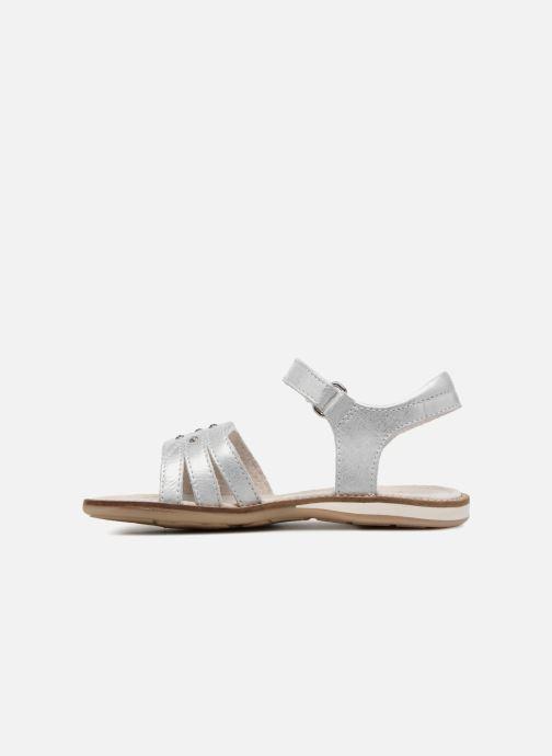 Sandals Noël SIRI Silver front view