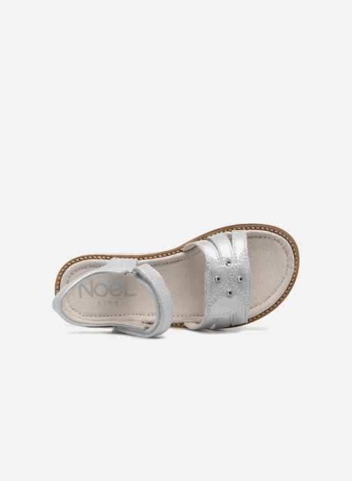Sandales et nu-pieds Noël SIRI Argent vue gauche